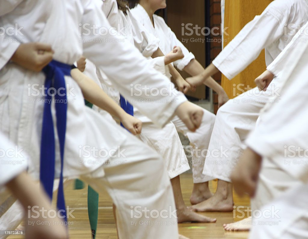 Kids on karate. stock photo
