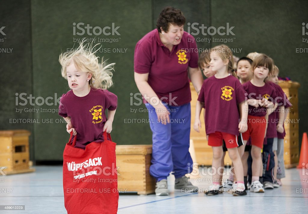 kids on sports event stock photo