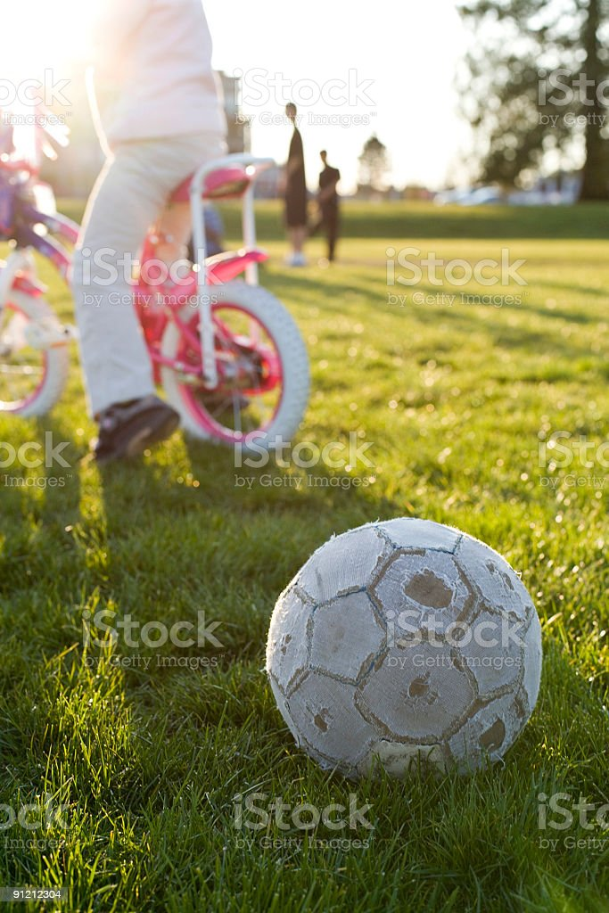Kids Playing After School stock photo