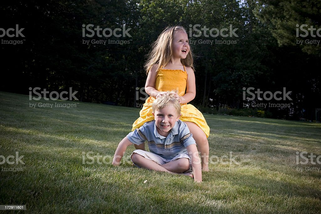 Kids Playing stock photo