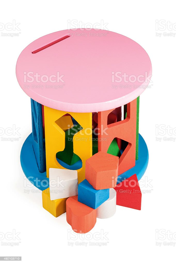 Kids puzzle sorter game stock photo