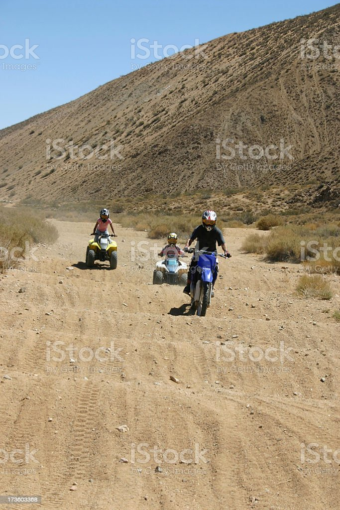 Kids riding stock photo