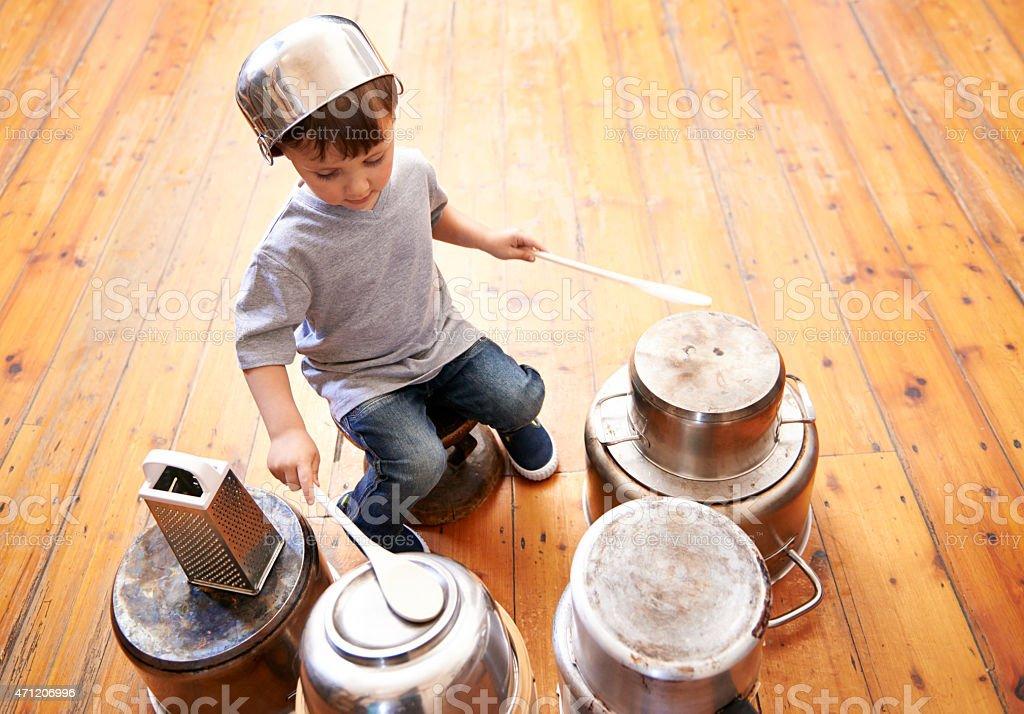 Kids rock! stock photo