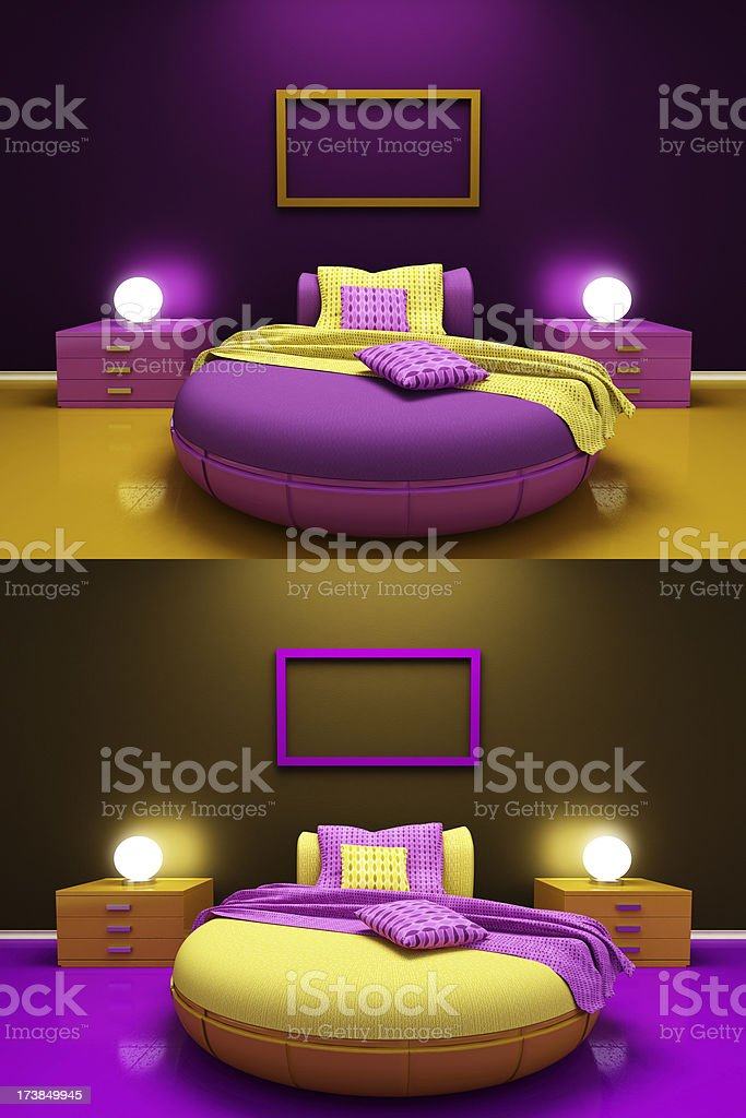 Kids Room Pink & Yellow royalty-free stock photo