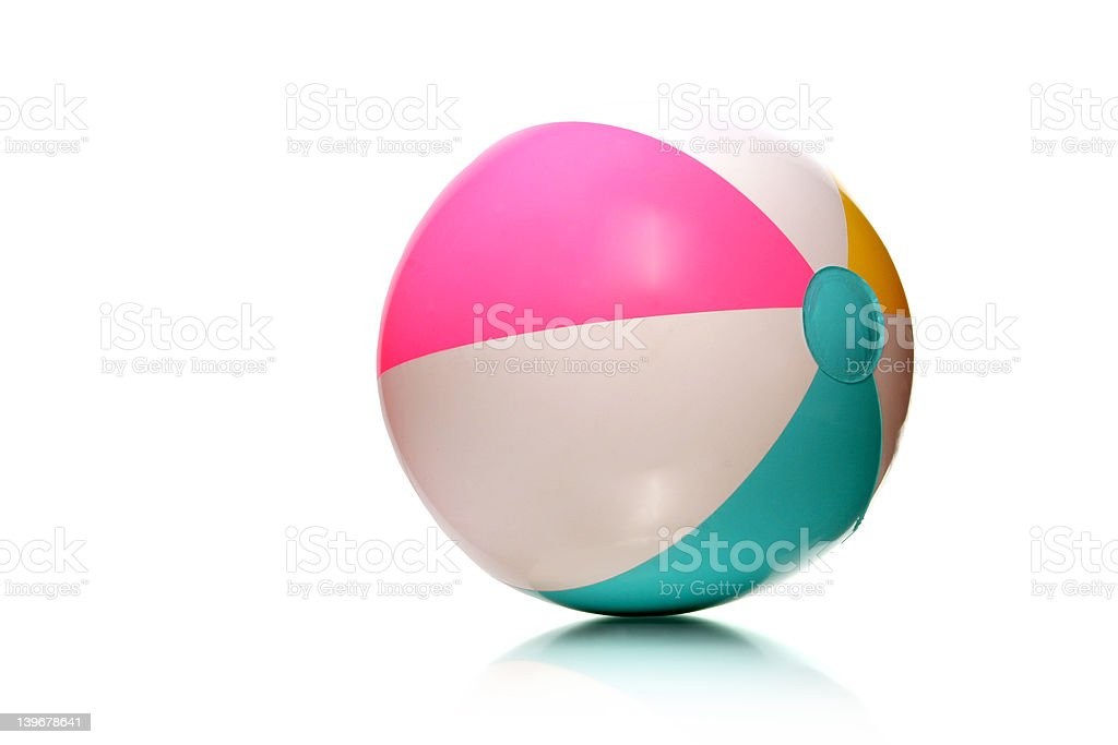 kids rubber beach ball royalty-free stock photo