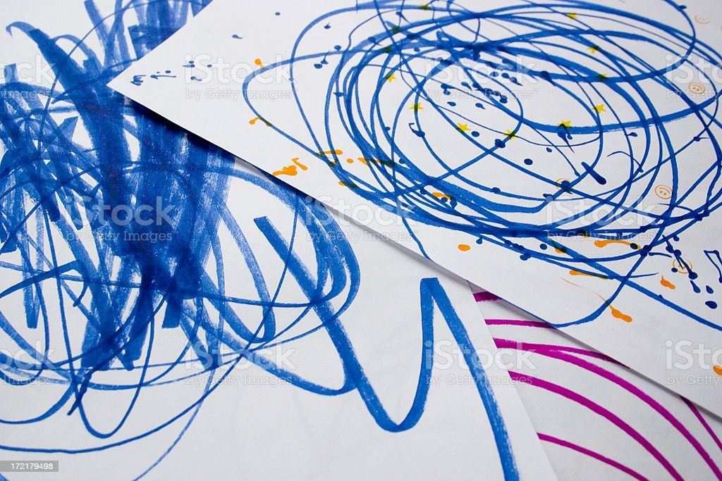 Kids Scribbles royalty-free stock photo