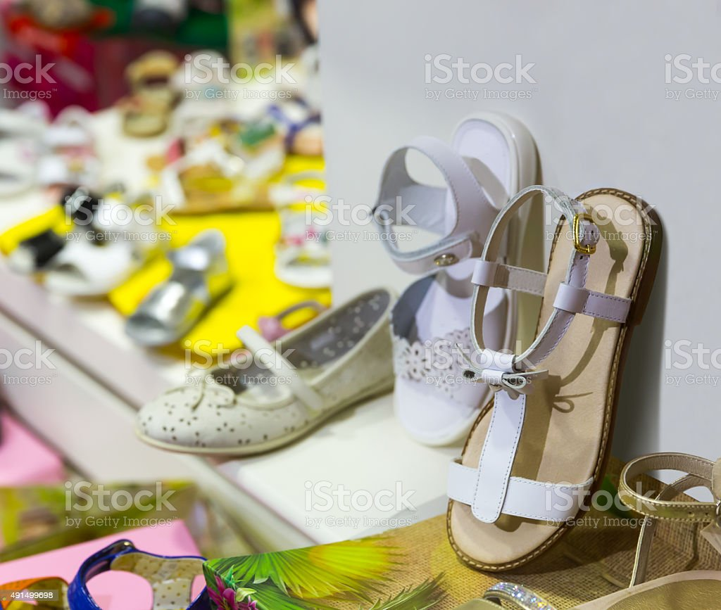 Kids shoes stock photo