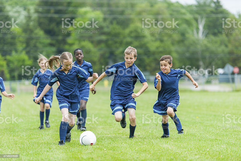 Kids Soccer royalty-free stock photo