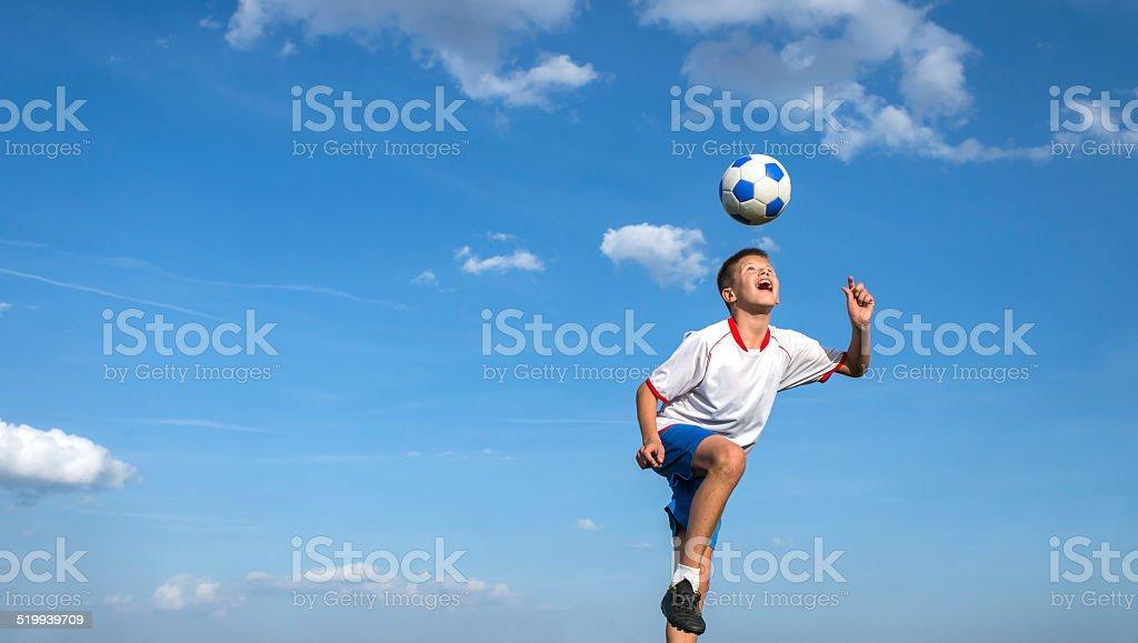 kids' soccer stock photo