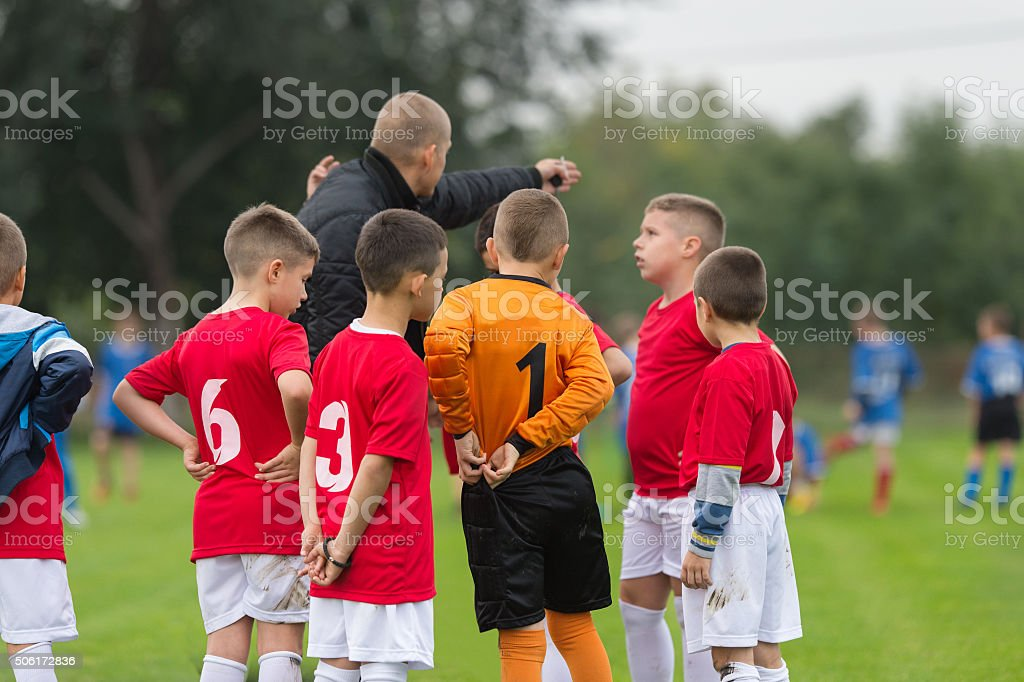 KidS soccer team stock photo