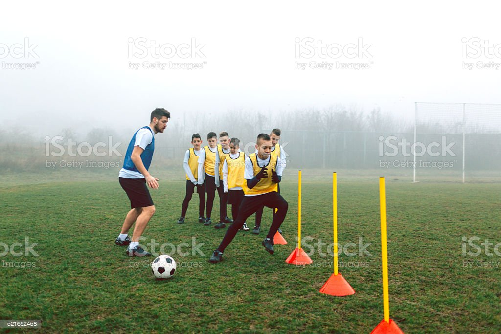 Kids Soccer Training. stock photo