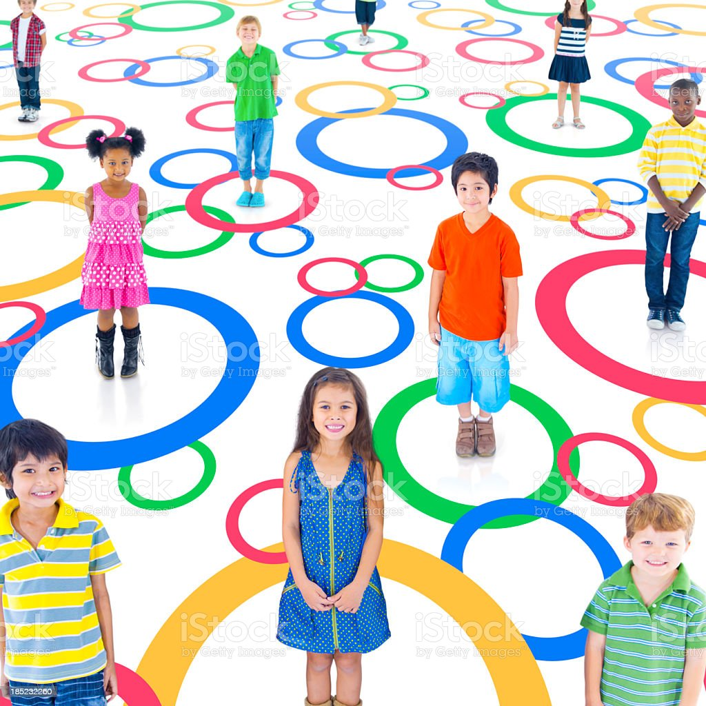 Kids Social Network. royalty-free stock photo