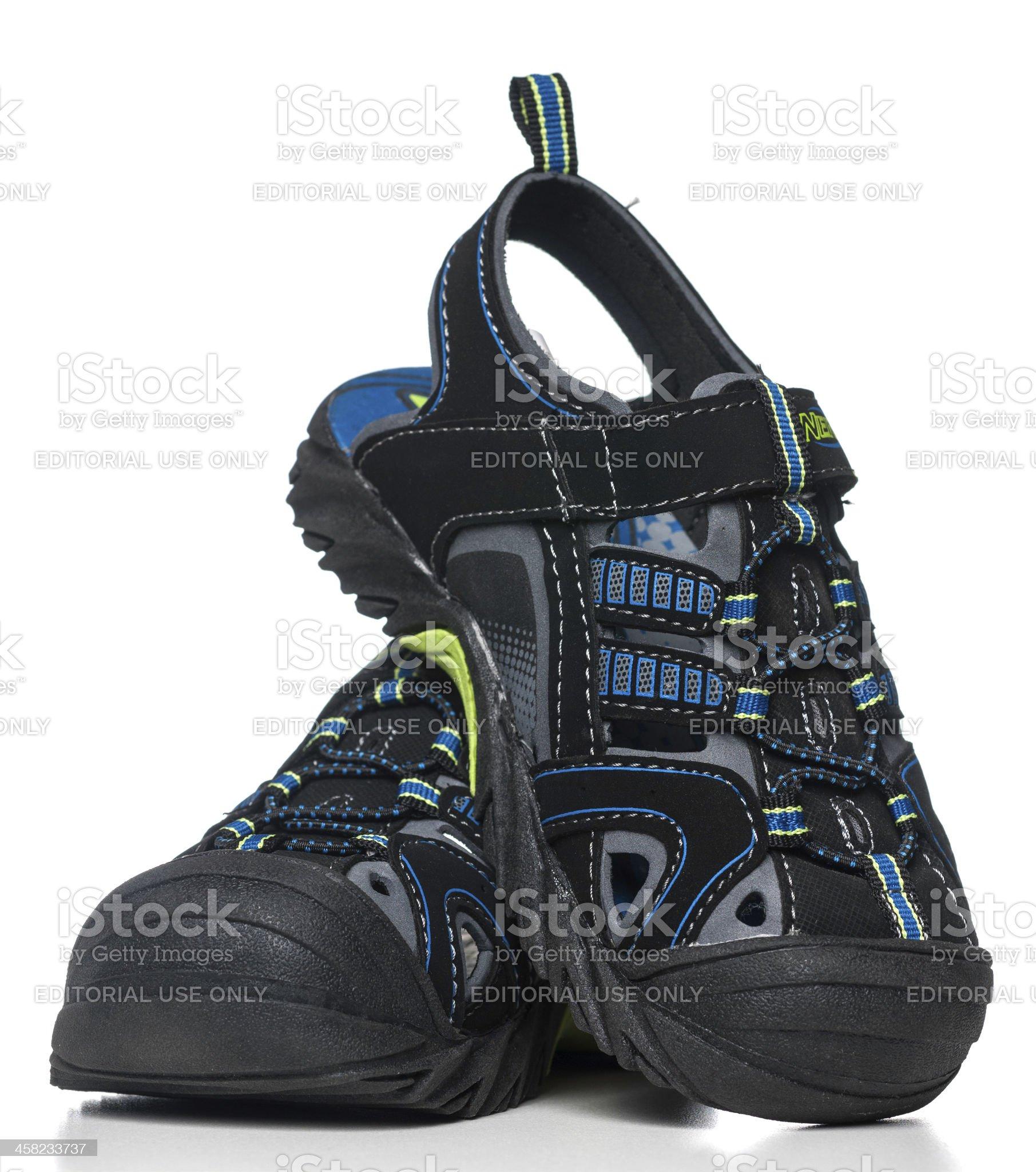 NERF kids sport sandals royalty-free stock photo