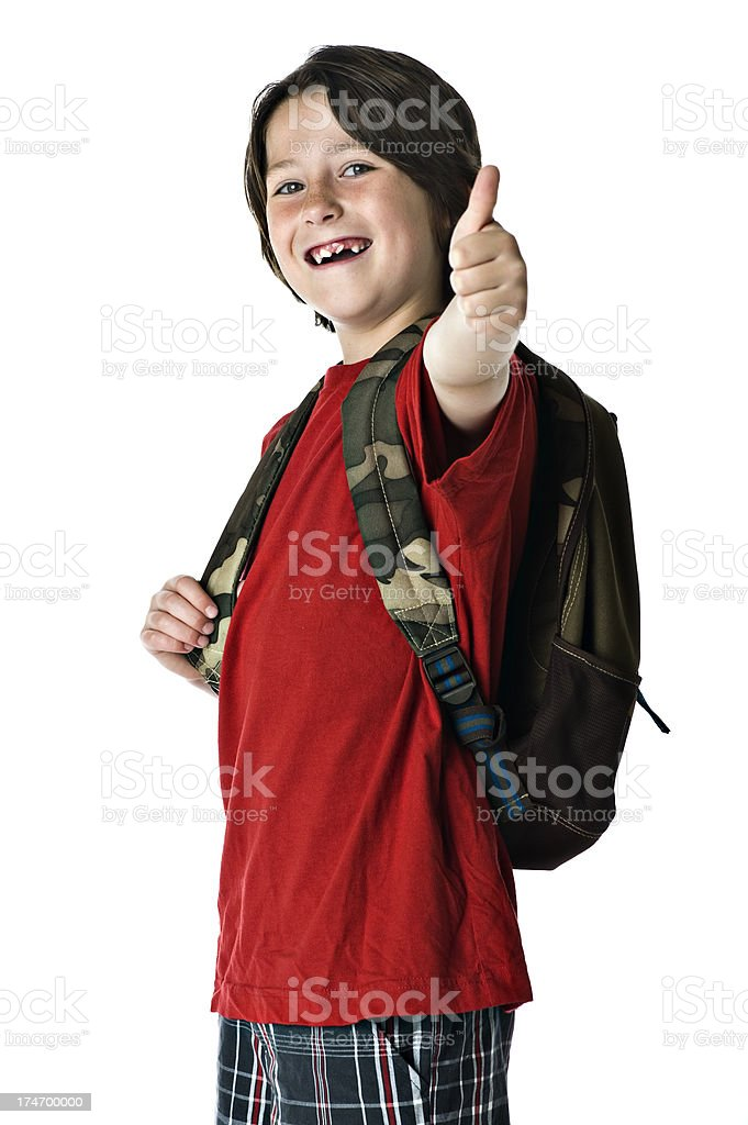 Kids - Student Approved Thumbs Up (XL) royalty-free stock photo