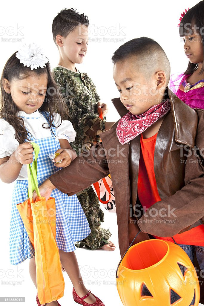 kids trading halloween candy royalty free stock photo - Halloween Candy Kids