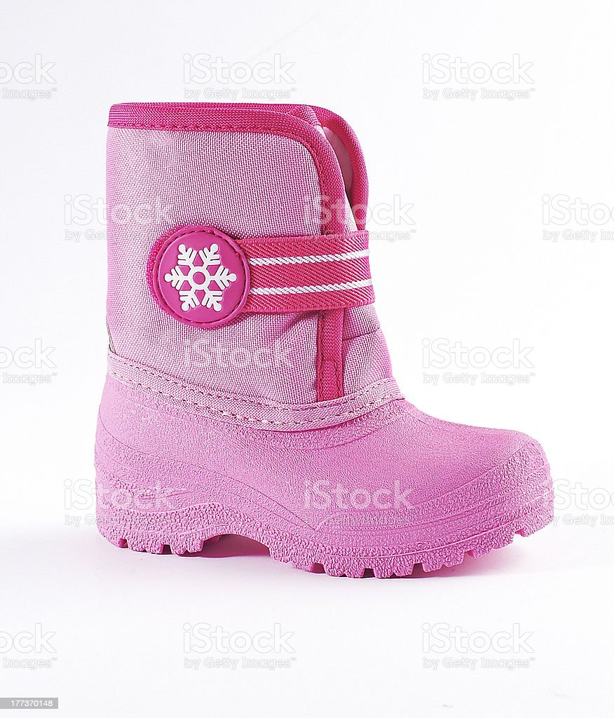 Kids winter boot royalty-free stock photo