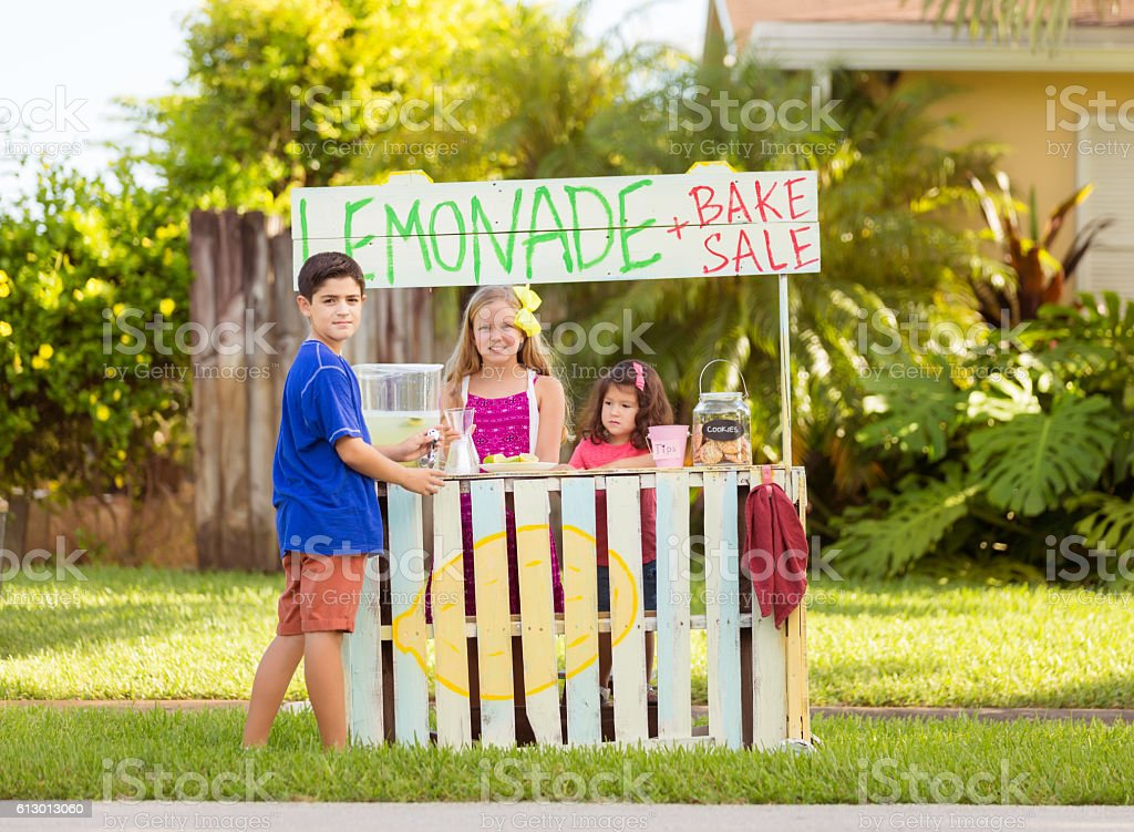 Kids with business potential stock photo