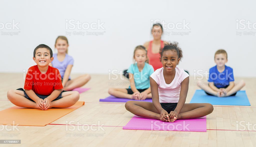Kids Yoga stock photo