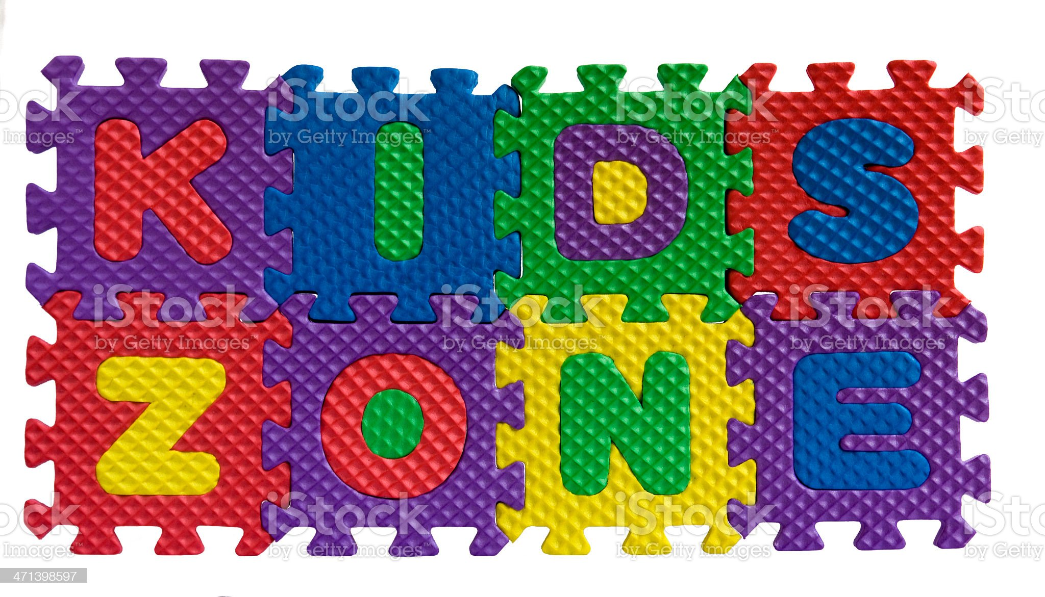 Kids zone sign royalty-free stock photo