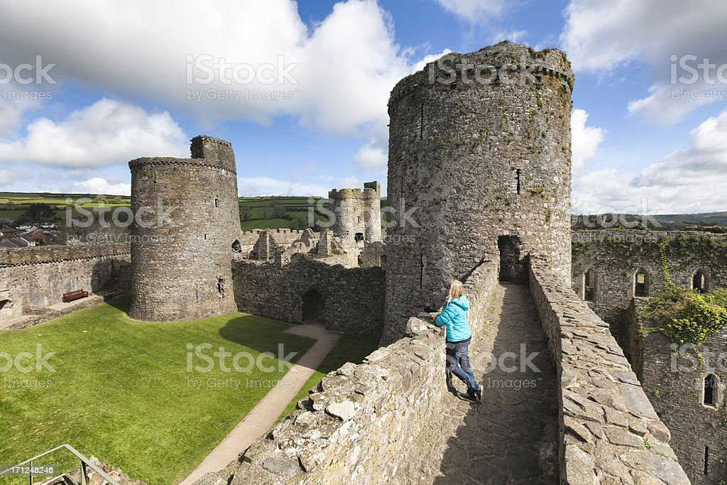 Kidwelly castle, Carmarthenshire, Wales. royalty-free stock photo