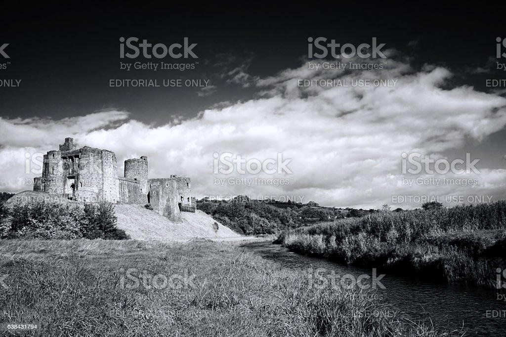 Kidwelly Castle landscape stock photo
