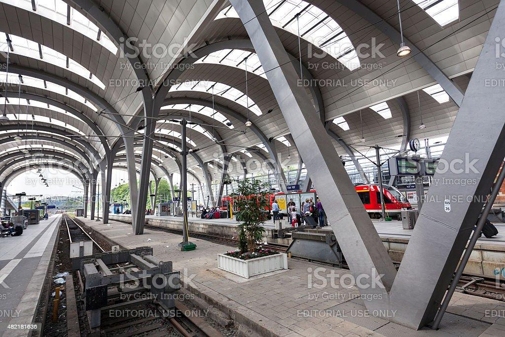 Kiel Hauptbahnhof stock photo