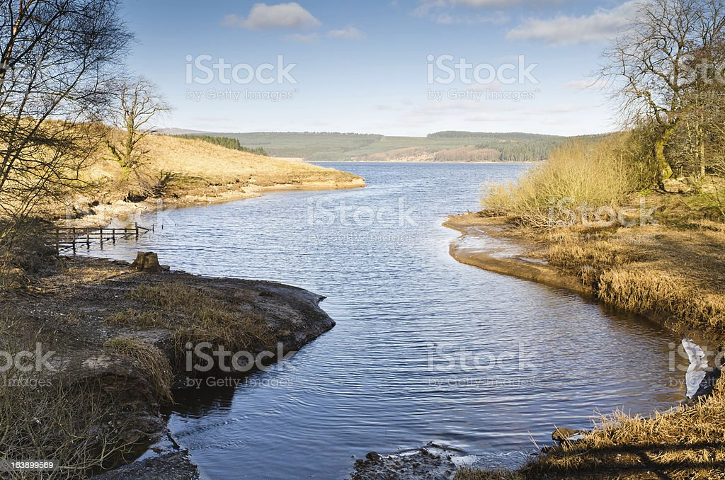 Kielder Water inlet royalty-free stock photo