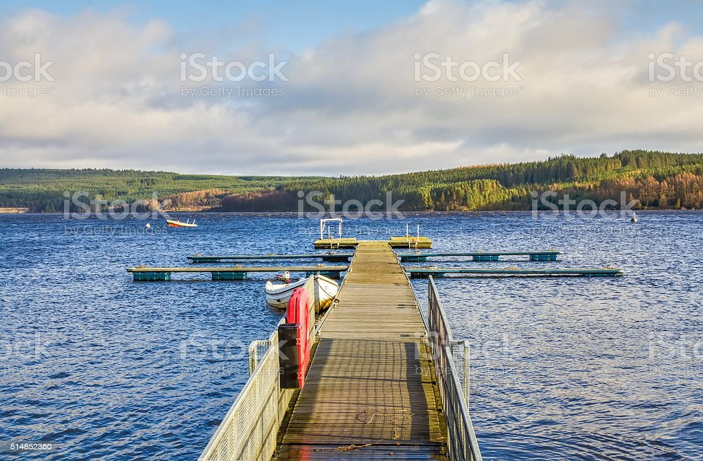Kielder Water Reservoir, Northumberland, England stock photo