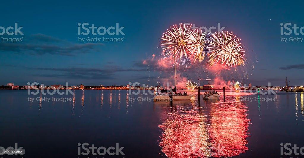 Kieler Woche Fireworks stock photo