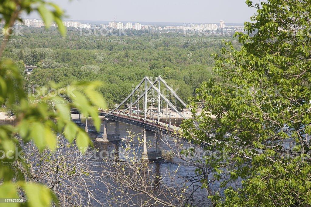 Kiev bridge stock photo