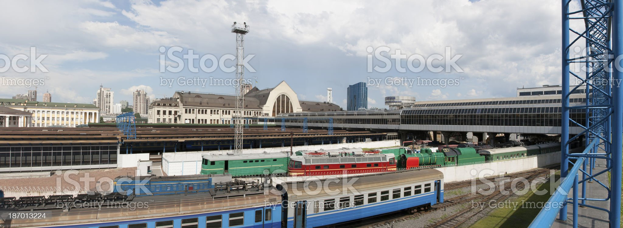 Kiev Central Railroad Station panorama royalty-free stock photo