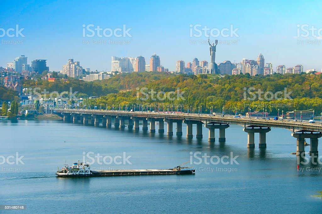 Kiev cityscape, Ukraine stock photo