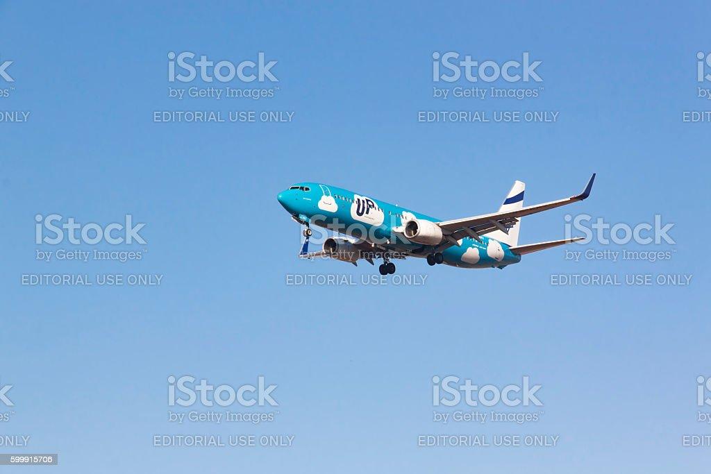 Kiev region, Ukraine  Boeing 737 stock photo