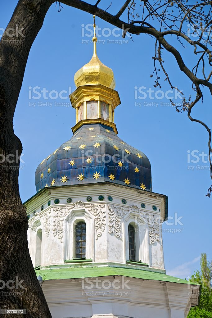 kievo-pecherskaya lavra church stock photo