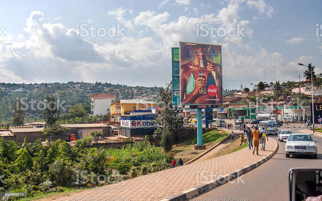 Kigali, a clean city in Africa stock photo