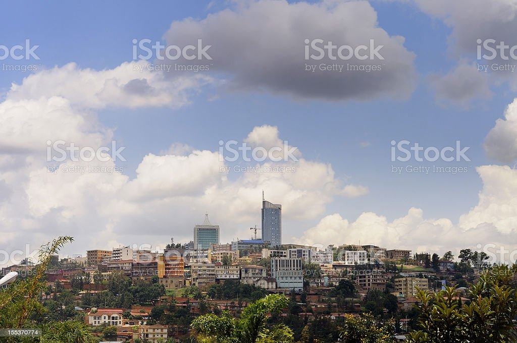 Kigali central business district skyline royalty-free stock photo