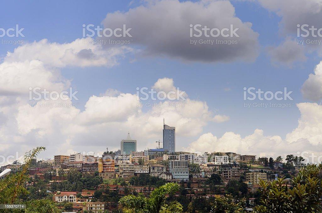 Kigali central business district skyline stock photo