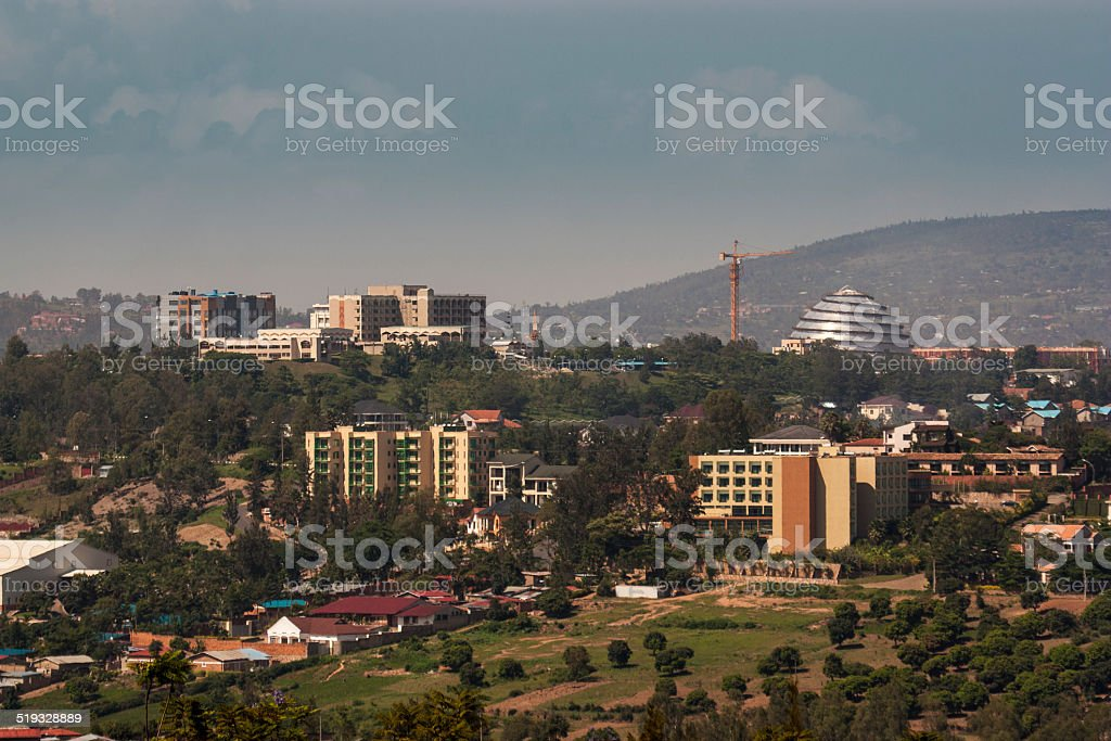 Kigali Parliament building and convention centre stock photo