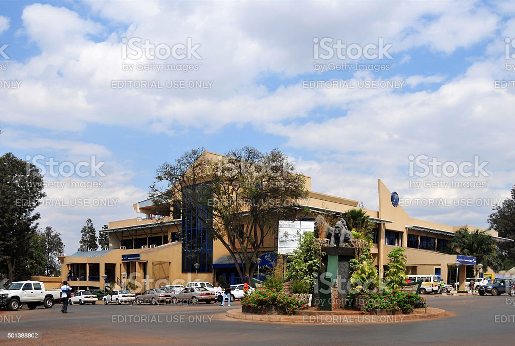 Kigali, Rwanda: Independence Square, the Gorillas roundabout stock photo