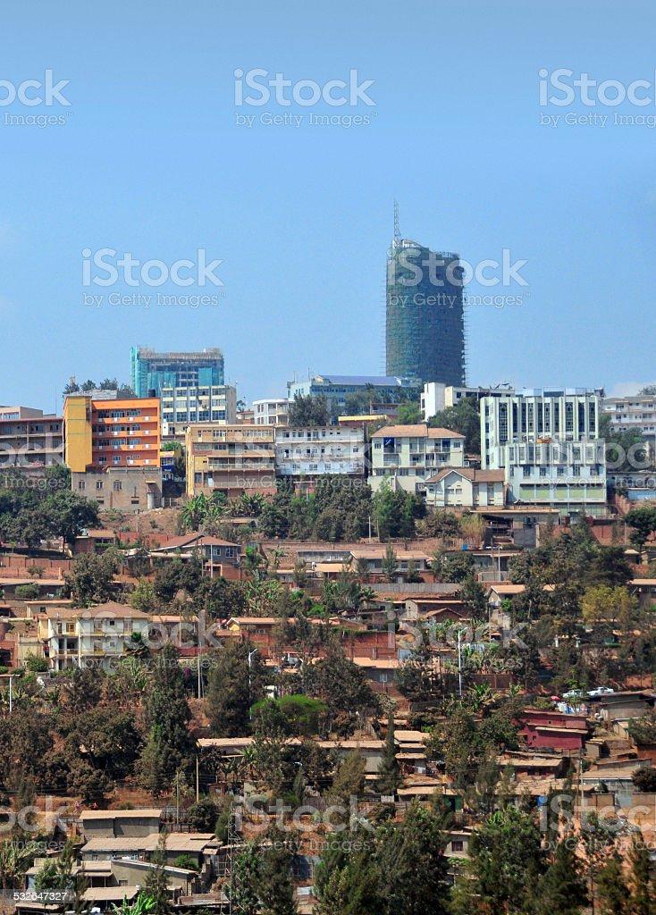 Kigali skyline, Rwanda stock photo