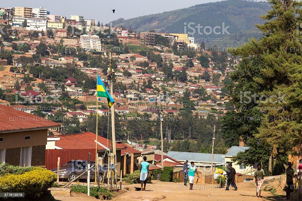 Kigali street scene stock photo