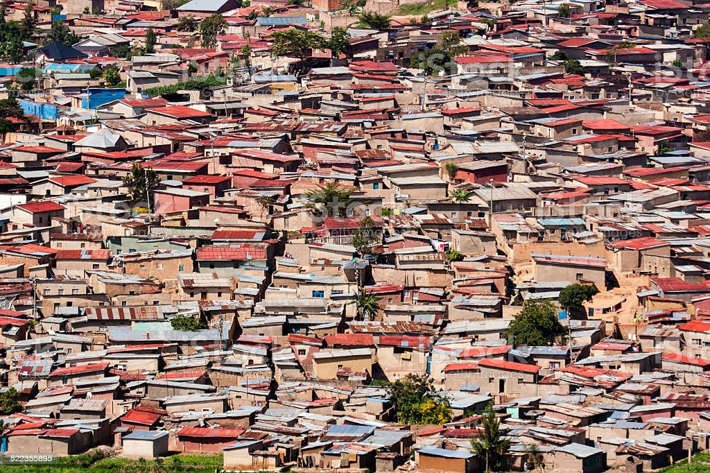 Kigali Suburban housing stock photo