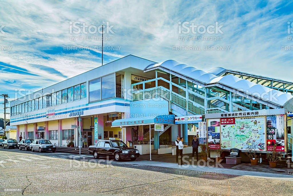 Kii-Katsuura Station in Wakayama, Japan stock photo