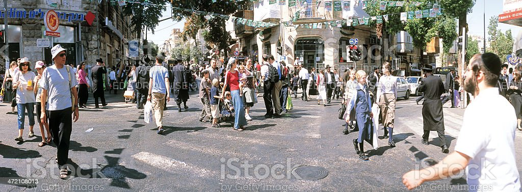 Kikar HaShabbat Intersection in Jerusalem. stock photo