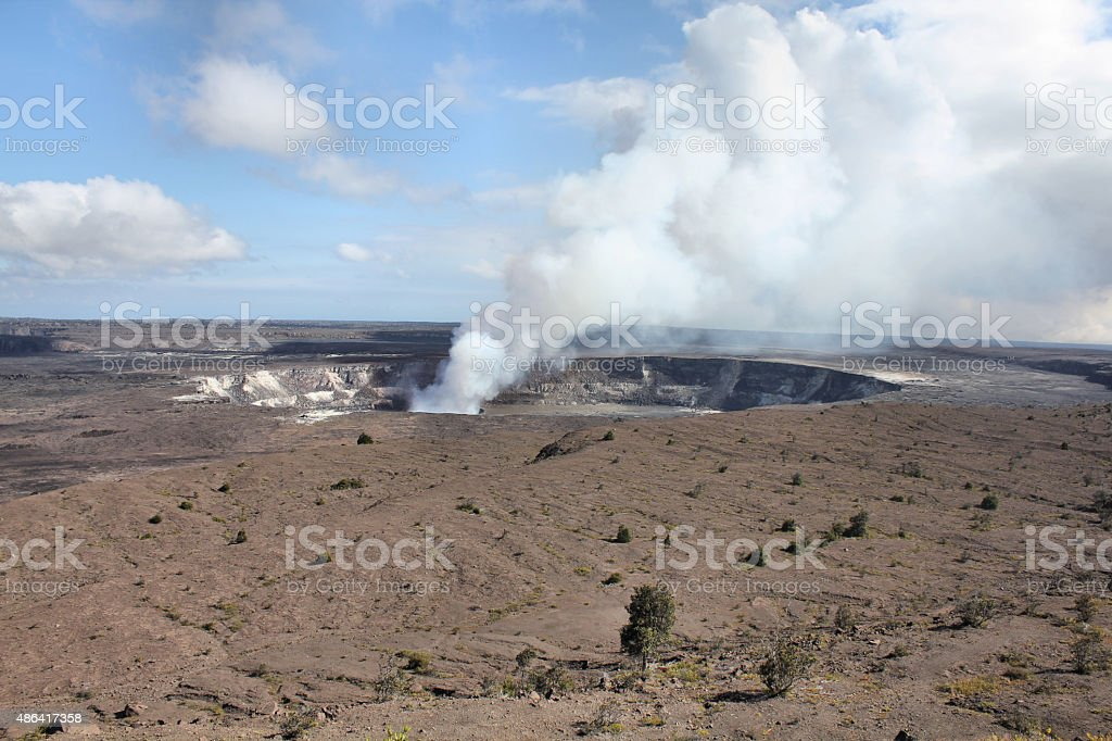 Kilaeua volcano in Hawaii stock photo