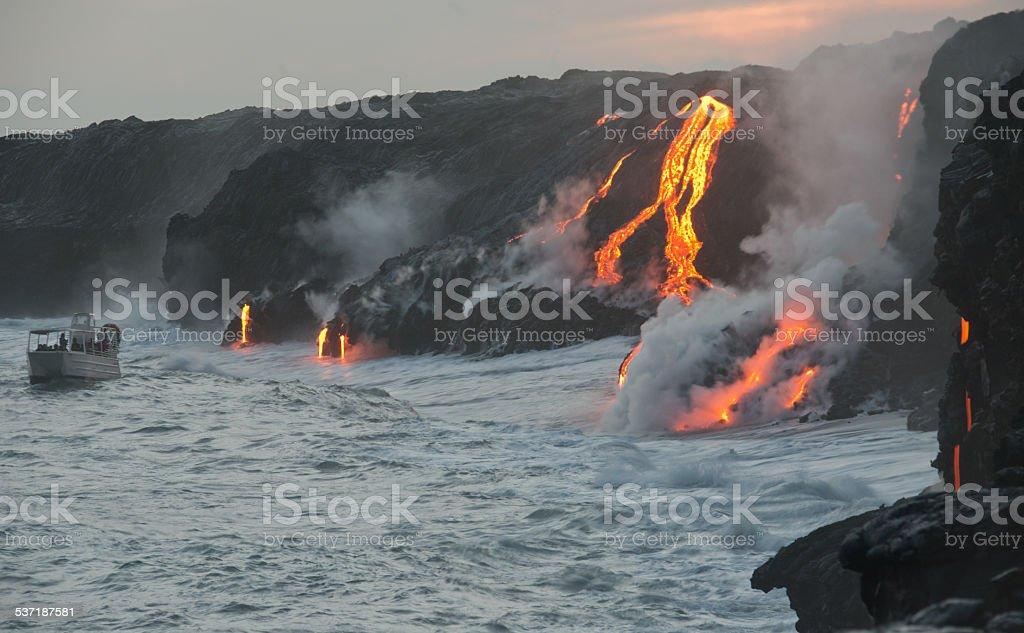 Kilauea lava flow stock photo
