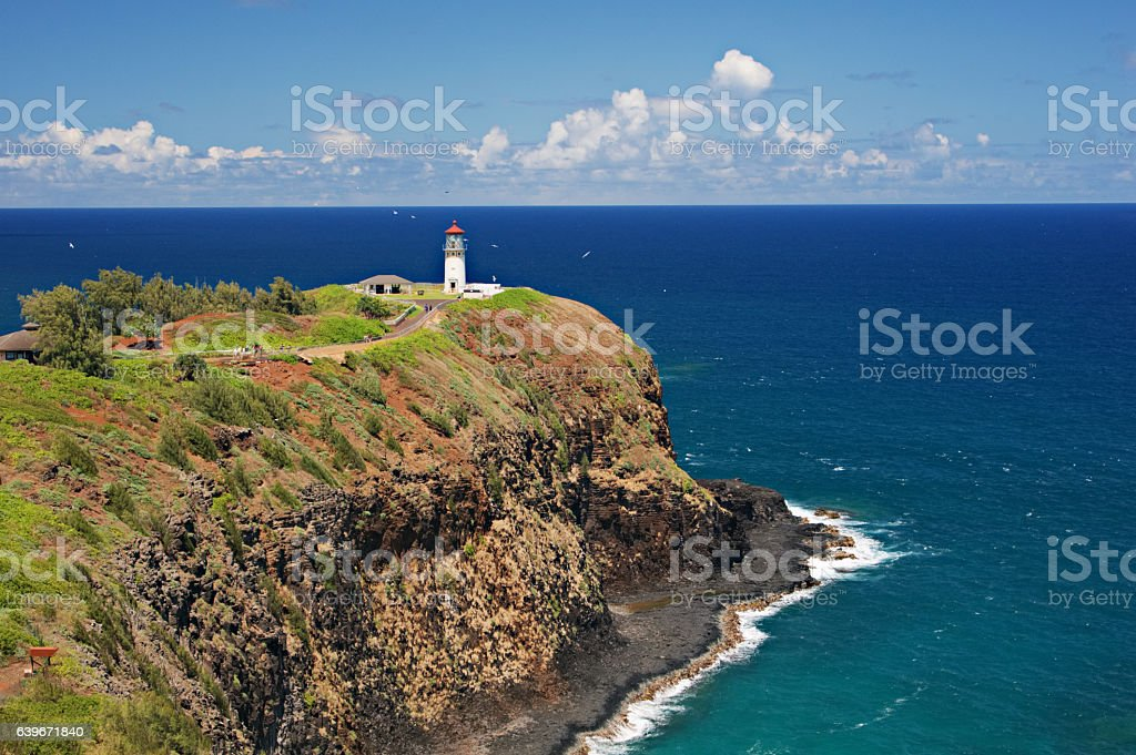 Kilauea Light House stock photo