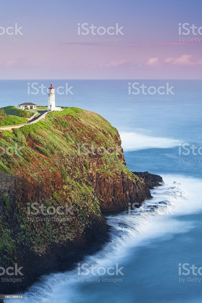 Kilauea Lighthouse at Dawn stock photo