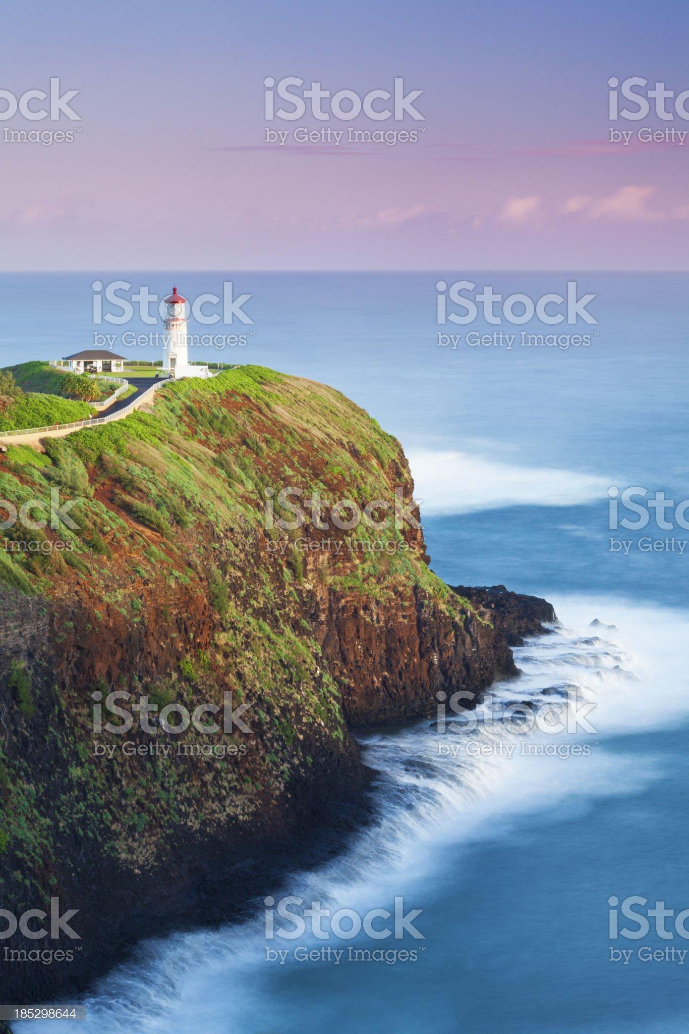Kilauea Lighthouse at Dawn royalty-free stock photo