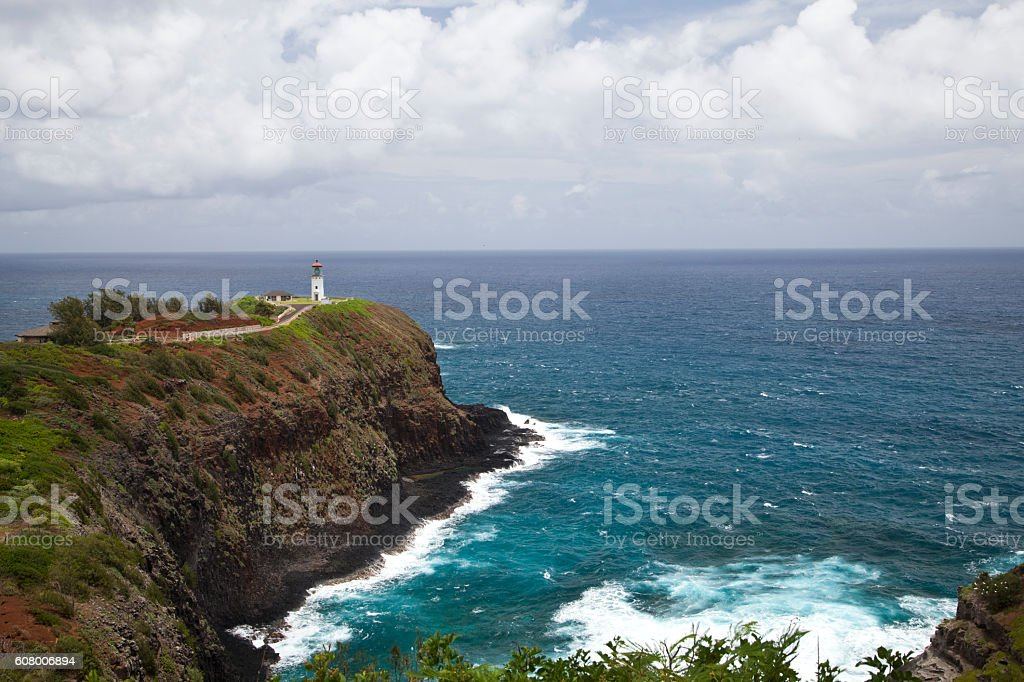 Kilauea Lighthouse in Kauai, Hawaii stock photo